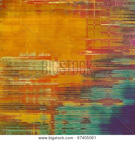 Background in grunge style. With different color patterns: yellow (beige); brown; blue; red (orange)