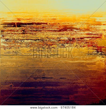 Grunge colorful background. With different color patterns: yellow (beige); purple (violet); cyan; red (orange)