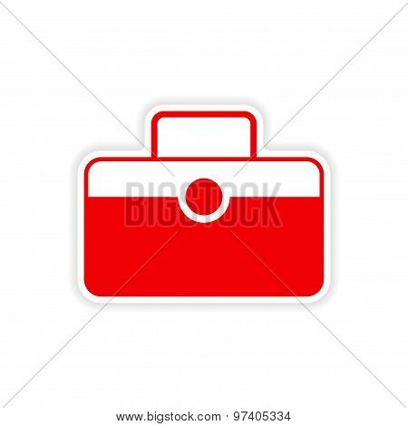 icon sticker realistic design on paper baggage