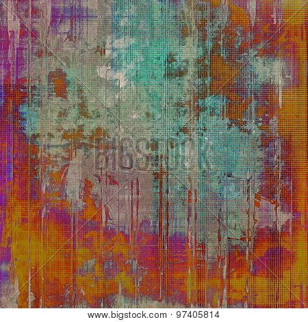 Grunge background with vintage and retro design elements. With different color patterns: yellow (beige); brown; purple (violet); blue