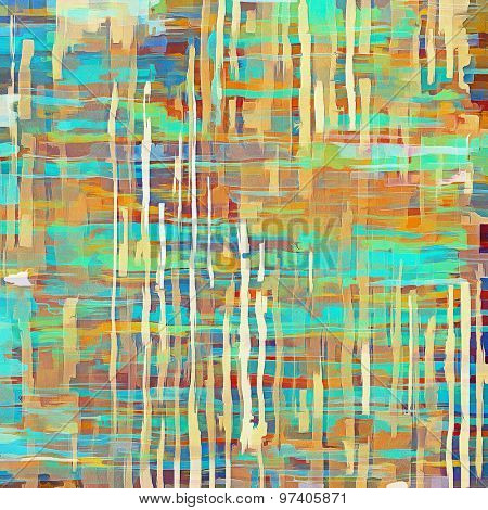 Abstract grunge textured background. With different color patterns: yellow (beige); green; blue; red (orange)