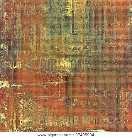 Grunge retro vintage textured background. With different color patterns: yellow (beige); brown; green; red (orange)
