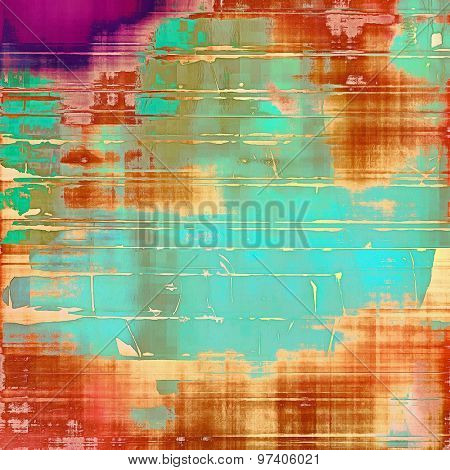 Grunge texture, may be used as retro-style background. With different color patterns: yellow (beige); purple (violet); green; blue; red (orange)