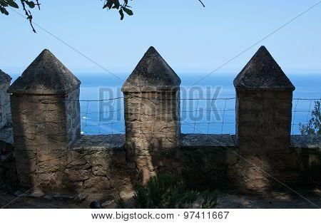Garden Stone Fence