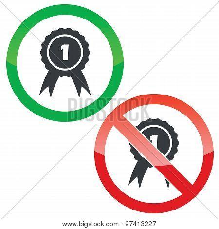 1st place permission signs set