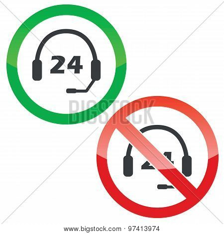 Support 24 permission signs set