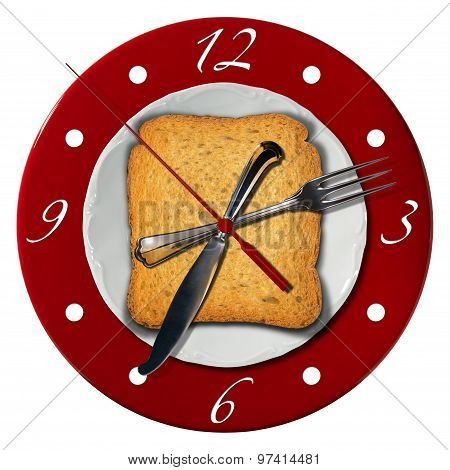 Breakfast Time Concept - Clock