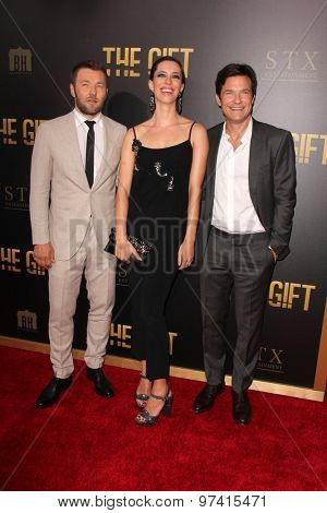 LOS ANGELES - JUL 30:  Joel Edgerton, Rebecca Hall, Jason Bateman at the