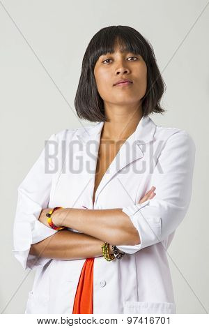 Serious Woman Doctor