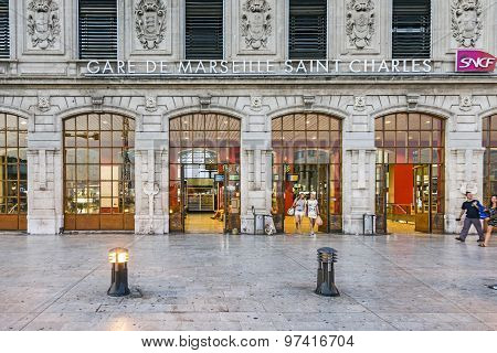 View Of Saint Charles Train Station In Marseilles