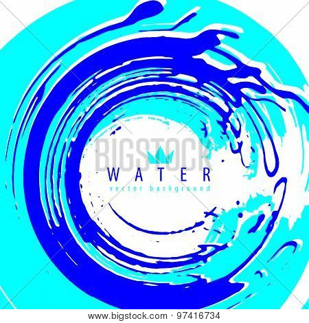 Abstract vector background, vector illustration made using real ink hand-drawn grunge brushes, clear