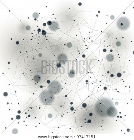 Spatial vector digital eps10 backdrop. 3d technology background with overlay spot elements, geometri