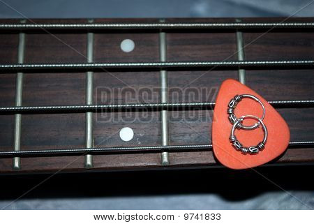 fretboard mediator earrings