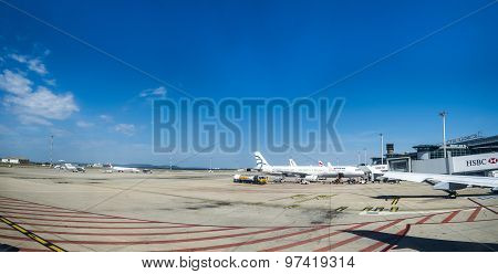 Aircraft At Marseille Airport