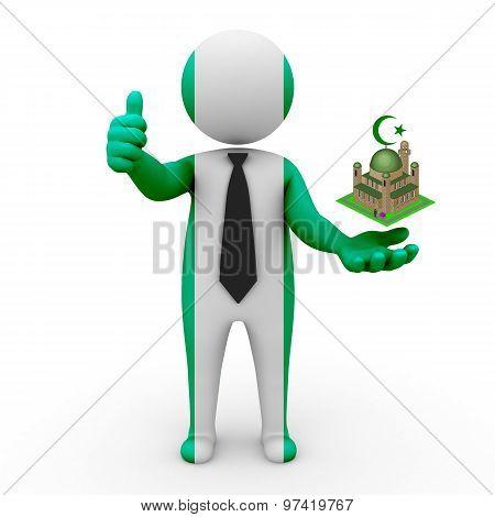3d businessman people Nigeria - Muslim mosque and Islam in Nigeria