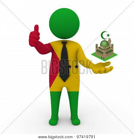 3d businessman people Sao Tome and Principe - Muslim mosque and Islam in Sao Tome and Principe