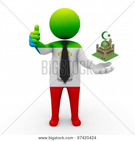 3d businessman people Equatorial Guinea - Muslim mosque and Islam in Equatorial Guinea
