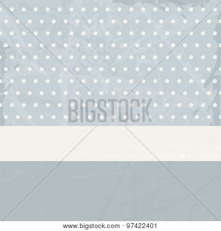 Blue vintage background abstract - retro pattern