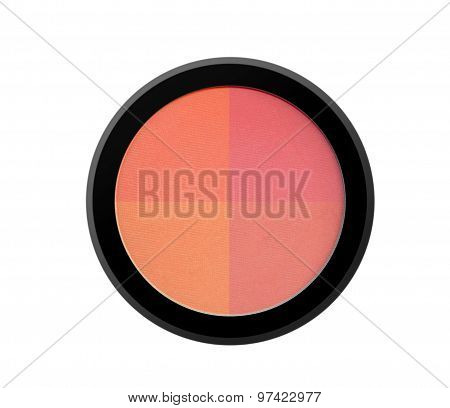 Face Powder Blush Isolated On White Background