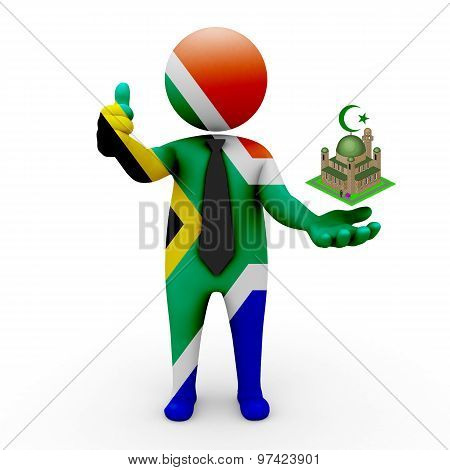 3d businessman people South Africa - Muslim mosque and Islam in South Africa