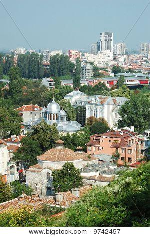 Old Plovdiv Cityscape ,bulgaria,balkans