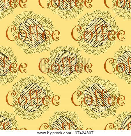 Brown Coffee Seamless Pattern