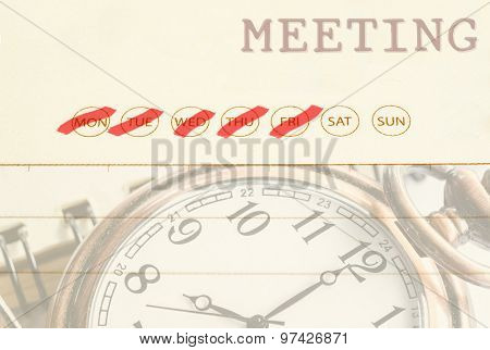 Meeting Date On Diary.