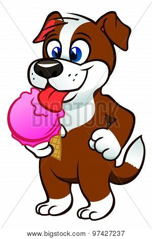 Puppy With Icecream