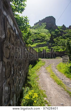 Rural Way Along Graveyard, Background Cave City
