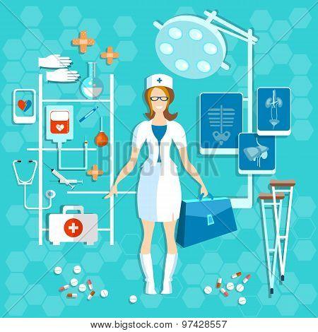 Doctor, Medicine, Medical, Nurse, Smile, vector