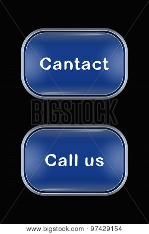 Modern Glass Buttons Contact Call