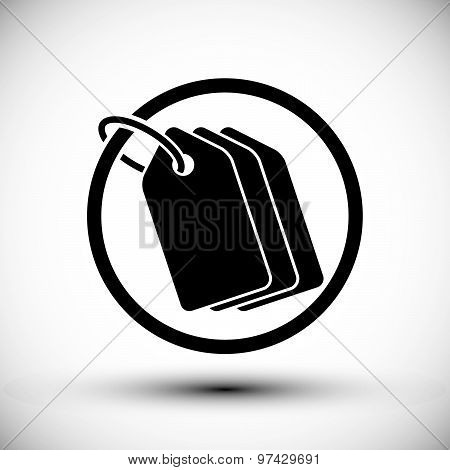 Tag retail theme vector simple single color icon.