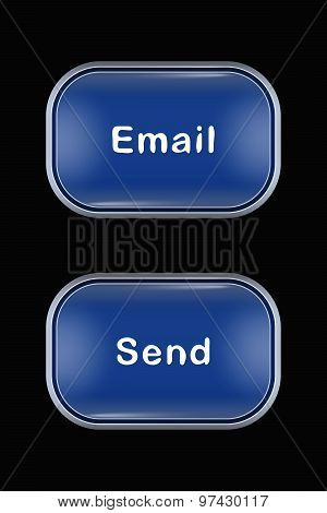 Modern Glass Buttons Email