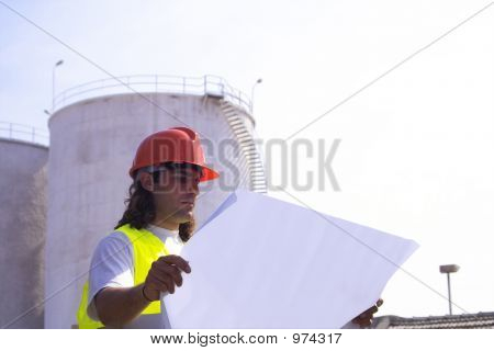 Technician In A Plant