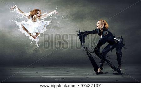 Two ballerines