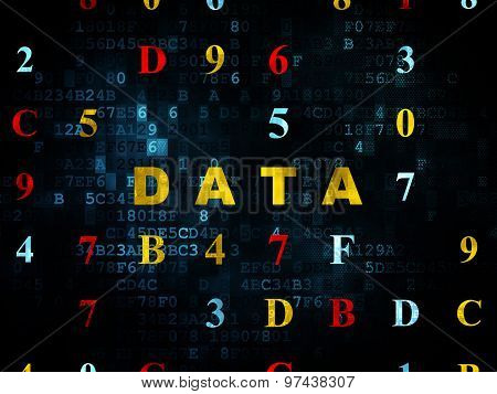 Data concept: Data on Digital background