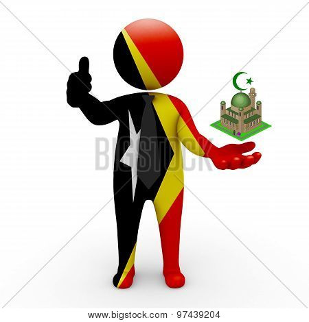3d businessman people East Timor - Muslim mosque and Islam in East Timor
