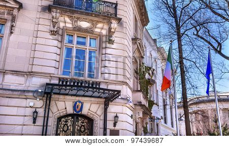 Ireland Irish Embassy Embassy Row Massachusetts Avenue Washington Dc