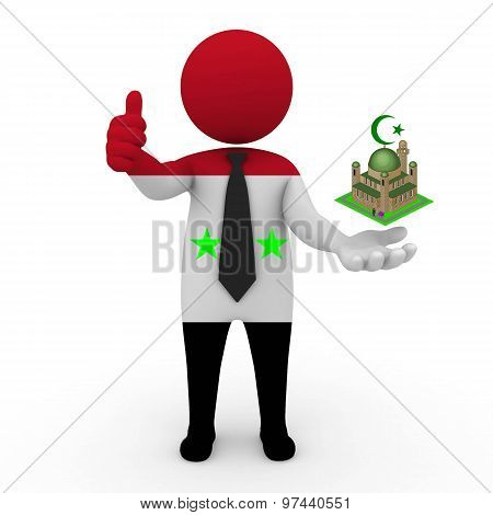 3d businessman people Syria - Muslim mosque and Islam in Syria