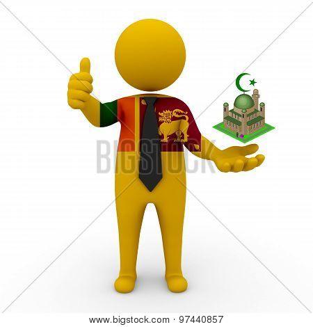 3d businessman people Sri Lanka - Muslim mosque and Islam in Sri Lanka
