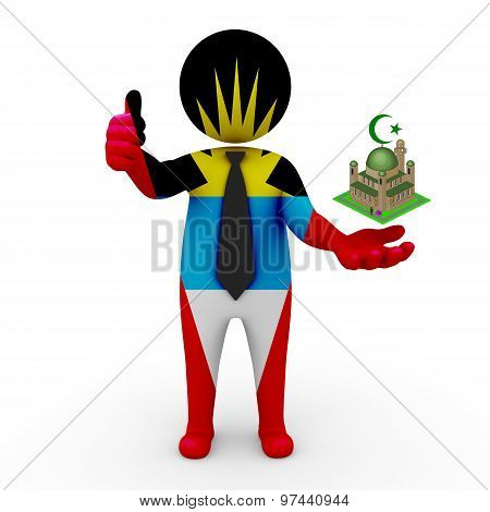 3d businessman people Antigua and Barbuda - Muslim mosque and Islam in Antigua and Barbuda