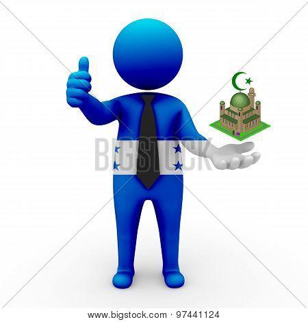 3d businessman people Honduras - Muslim mosque and Islam in Honduras