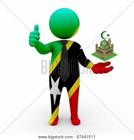 3d businessman people Saint Kitts and Nevis - Muslim mosque and Islam in Saint Kitts and Nevis