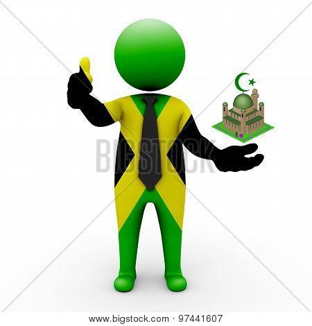 3d businessman people Jamaica - Muslim mosque and Islam in Jamaica