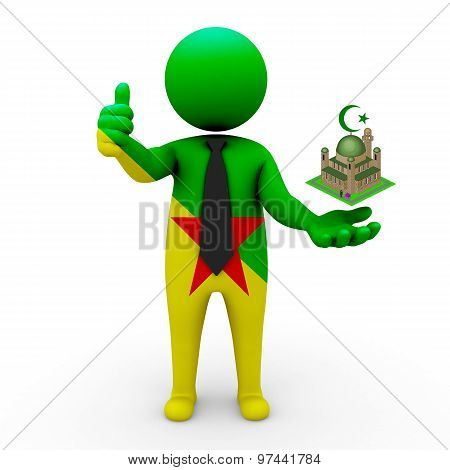 3d businessman people French Guiana - Muslim mosque and Islam in French Guiana
