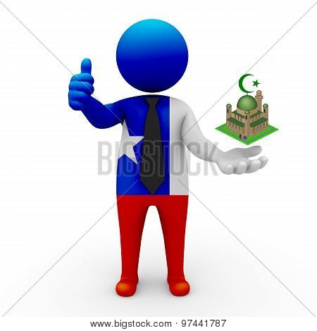 3d businessman people Chile - Muslim mosque and Islam in Chile