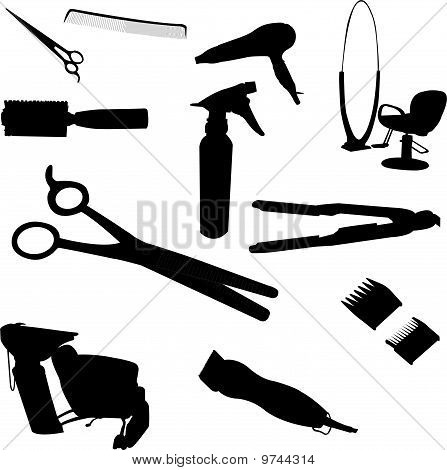 Hair Equipment - vector