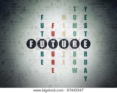 Timeline concept: word Future in solving Crossword Puzzle