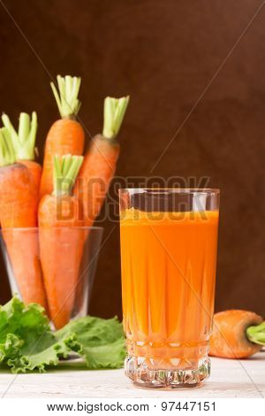Glass Of Carrot Juice