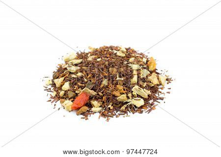 Pile Of Loose Red Bush Hot Spicy Winter Tea